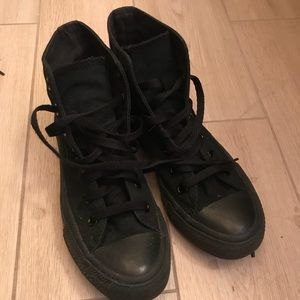 High top blacked out Converse